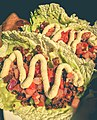 Vegan raw tacos at The Wooden Monkey, Halifax, Nova Scotia (24033033815).jpg