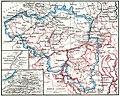 Velhagen & Klasings Volksbücher Nr. 120, Volksbücher der Erdkunde, Belgien, S. 05, Karte von Belgien Maßstab 1 zu 2000000 (cropped).jpg