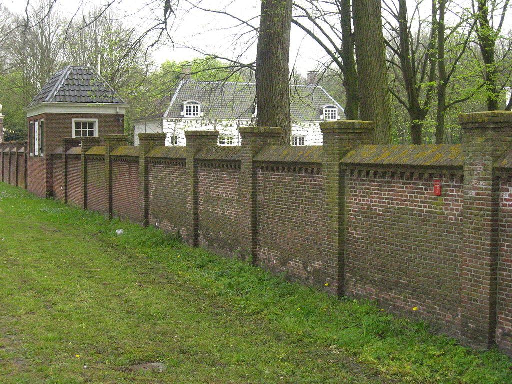 tuinmuur rechte fruitmuur Buitenplaats Beeckestijn in Velsen