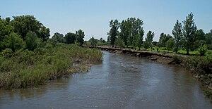 Vermillion River (South Dakota) - Photo of the Vermillion River between Parker and Chancellor