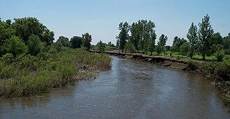 Vermillion River (South Dakota) - Vermillion River between Parker and Chancellor