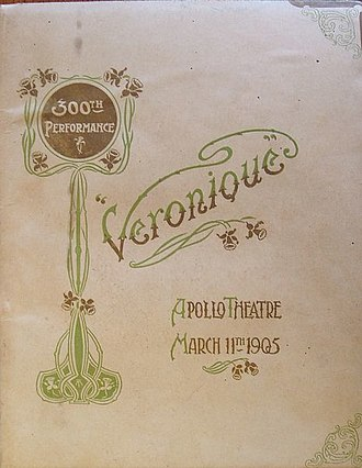 Apollo Theatre - Souvenir of 300th performance of Véronique at the theatre in 1905
