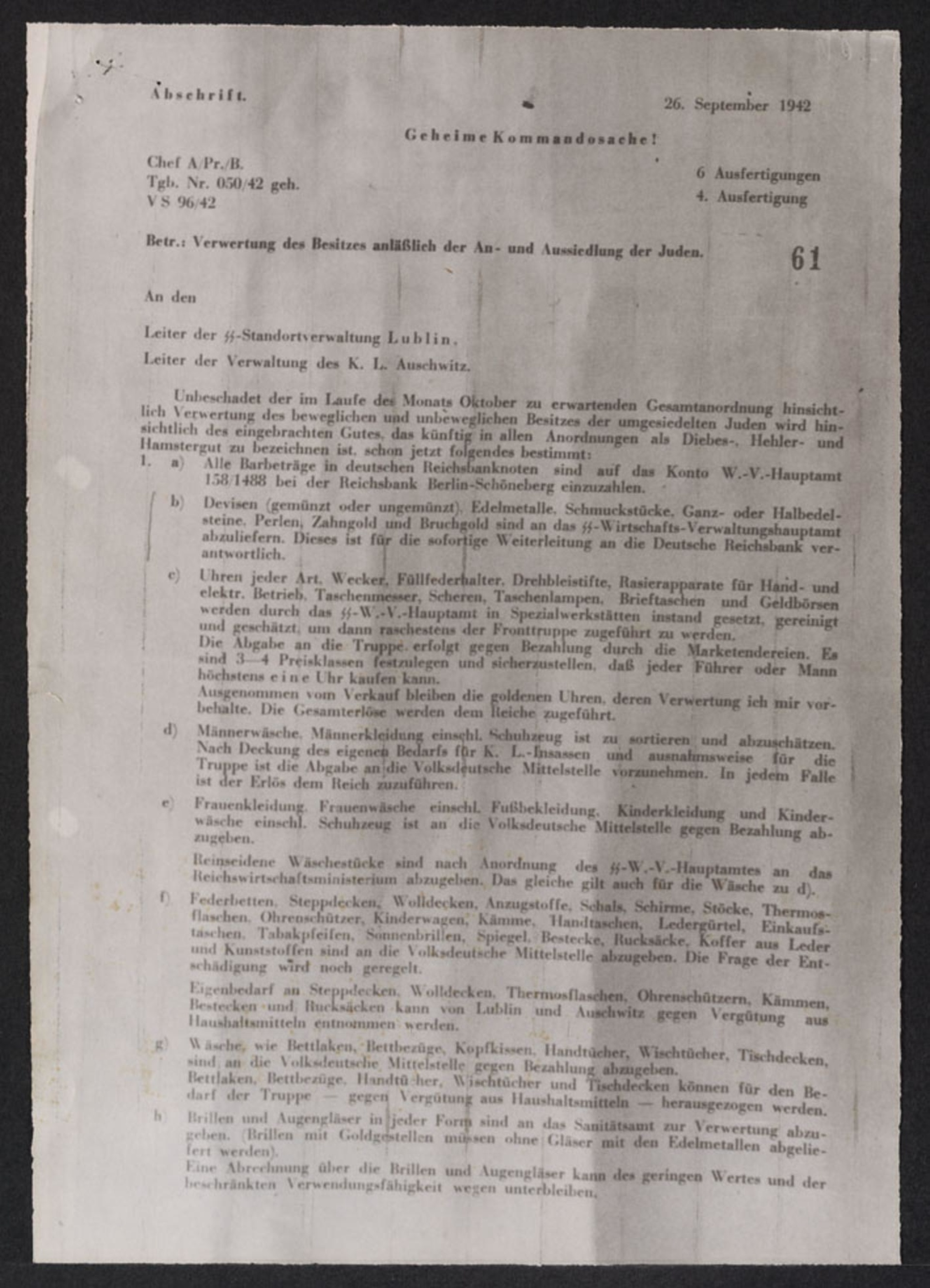 august frank memorandum