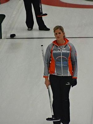 Vicki Adams - Image: Vicki Adams curling