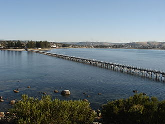 Oceanic Victor - View of Victor Harbor from Granite Island