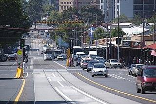 Victoria Street, Melbourne road in Melbourne, Victoria, Australia