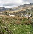 View across fields behind the High Street to Llandinorwig church and Capel Cefnywaen - geograph.org.uk - 751884.jpg