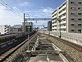 View from platform of Nishitetsu-Kashii Station (north).jpg