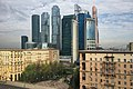 View of Moscow City from Kutuzovsky Prospect rooftop (30484597413).jpg