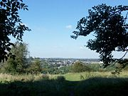 View of Winchester from the top of St. Catherine's Hill