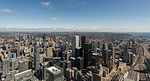 View of northwestern downtown from CN Tower, Toronto 20170417 1.jpg