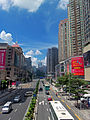 View south along Middle Dongmen Road from Dongle footbridge, Shenzhen, China.jpg