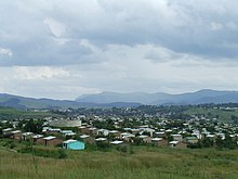 View south of cluster housing on northern outskirts of Kokstad (1414850469).jpg