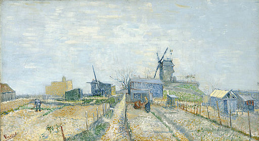 Vincent van Gogh - Montmartre- molens en moestuinen - Google Art Project