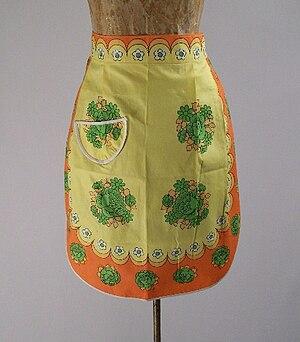 English: Vintage half apron.