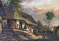 Vinzenz Kreuzer Bauernhaus mit Pfau am Dach.jpg