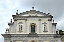 Virle Saint Peter and Paul church detail of facade.jpg