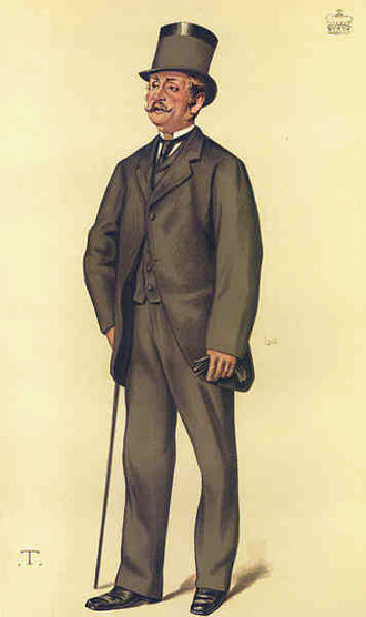 "Cornwallis Maude, 1st Earl de Montalt - ""hereditary whip"" Viscount Hawarden as caricatured in Vanity Fair, November 1881"