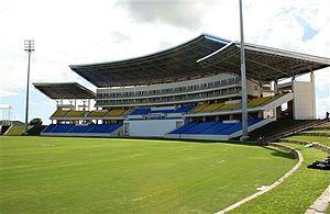 Viv Richards - The Sir Vivian Richards Stadium in 2012