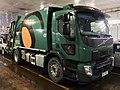 """Volvo FE 280 compacting waste collection truck (søppelbil for avfallshenting) for BIR (""""Bergensområdets Interkommunale Renovasjonsselskap"""") on car ferry Venjaneset–Hattvik, Hordaland, Norway 2018-03-21 C.jpg"""