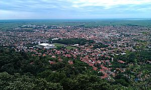 Panoramic view of Vršac