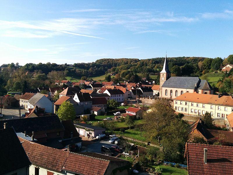 Vue de Walschbronn depuis le château