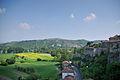 Vue sur le Rhône depuis les remparts.JPG