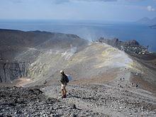 Sommità del cratere vulcanico.