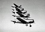 Vultee BT-13 Valiant Five-Ship Formation at Chico AAF CA.jpg