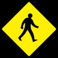 W140 Pedestrians - Warning Sign Ireland.png