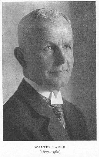 Walter Bauer - Walter Bauer