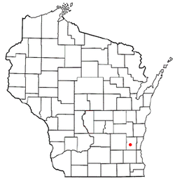 Location of Slinger, Wisconsin