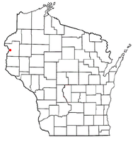 Location of St. Croix Falls (town), Wisconsin