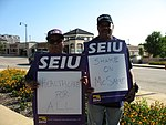 WI Union activists protest outside McCain Town Hall in Racine, July 31, 2008 (2722172427).jpg