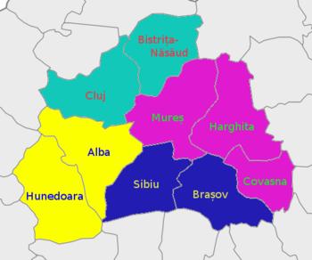 Map Of Transylvania Transylvania – Travel guide at Wikivoyage Map Of Transylvania