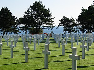 Crosses at WW2 American Cemetery in Normandy