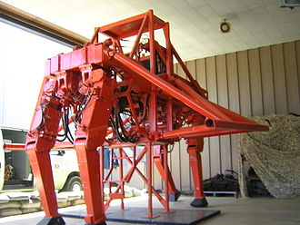 Walking vehicle - A quadruped walker, the General Electric Walking truck, on display at the U.S. Army Transportation Museum