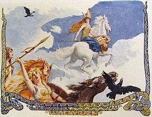 Valkyrie - Walkyrien (c. 1905) by Emil Doepler