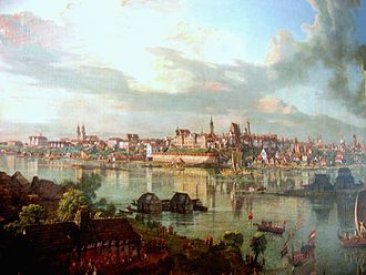Royal city in Poland - Warsaw in the 18th century