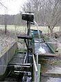 Wasserpumpe bei Ehningen, um Wasser aus der Würm für den Fischteich zu gewinnen - panoramio.jpg