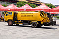 Waste Collection Truck Parked at Taipei Expo Park after Carnival 20150509.jpg