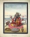Watercolour painting on paper of Gaṇeśa.jpg