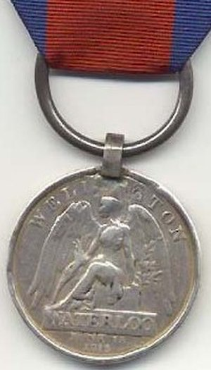 Waterloo Medal - Image: Waterloomedaille 1816 Verenigd Koninkrijk keerzijde