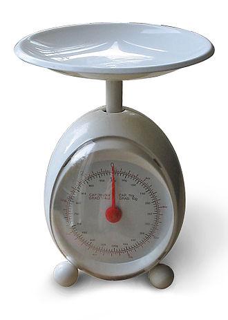 Weight - Image: Weegschaal 1