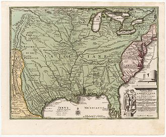 Louisiana (New France) - A map of Louisiana by Christoph Weigel, published in 1734