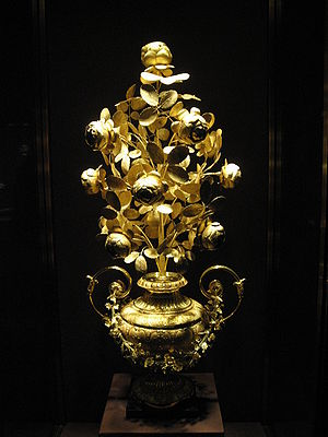 Golden Rose - Golden Rose by Giuseppe and Pietro Paolo Spagna. Rome, around 1818/19. Kept today in the Imperial Treasury in Hofburg Imperial Palace in Vienna.