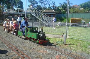 Ridable miniature railway - Image: West Ryde Mini Rail