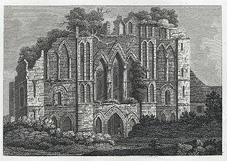 West View of Llantony Abbey