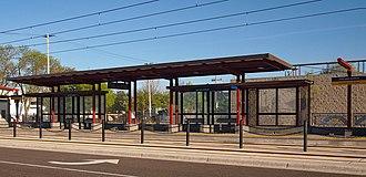 Western Avenue station (Metro Transit) - Part of the Western Avenue eastbound platform