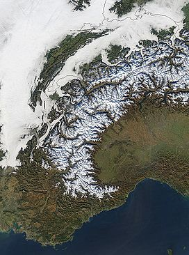 The Western Alps from space